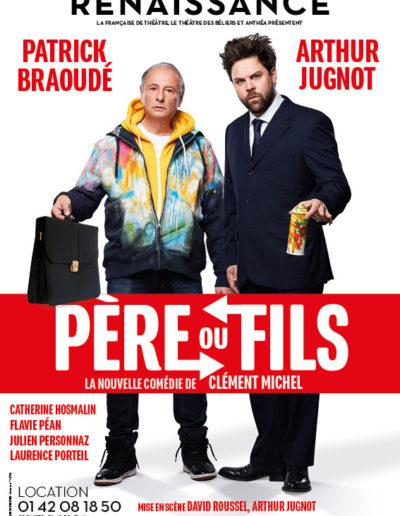 Pere Ou Fils Renaissance Jugnot Braoude Affiche
